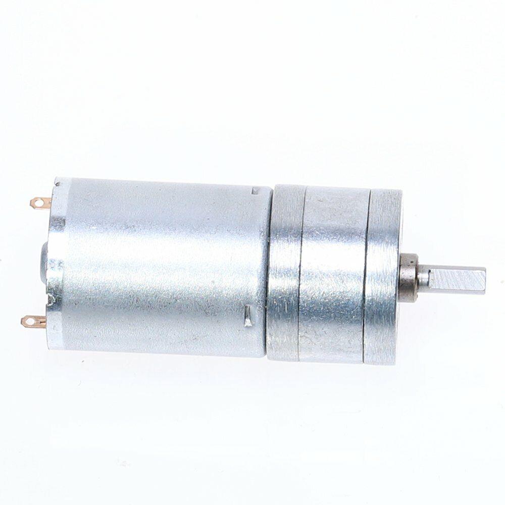 DC6//12V 7-1818RPM JGA25-310 4mm Shaft Dia Micro DC Gear Motor with Metal Gearbox