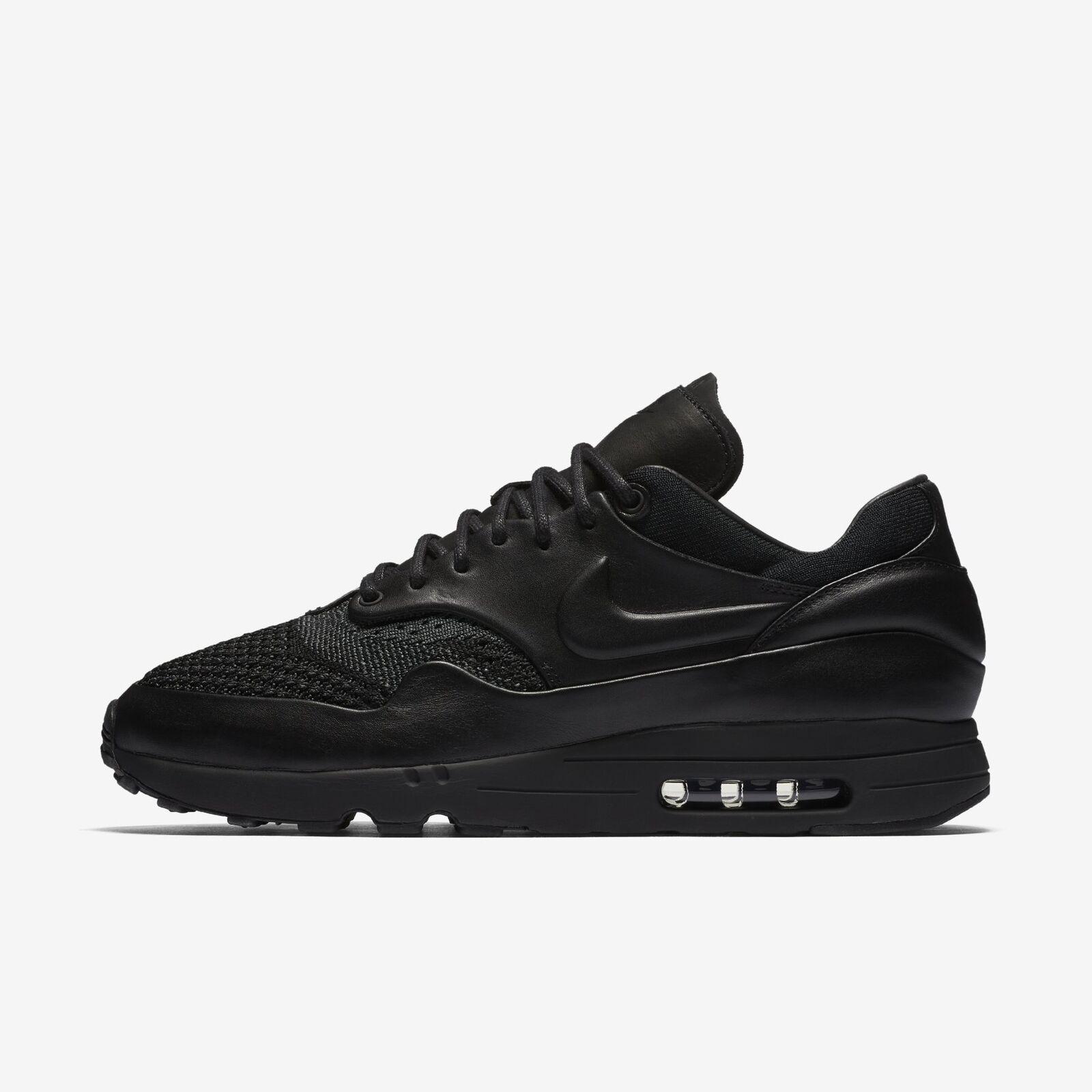 Nike air max 1 uomini flyknit royal scarpe neri antracite dimensioni 923005 001