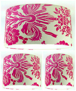 Image Is Loading Lampshade Handmade With Laura Ashley Tatton Cerise Pink