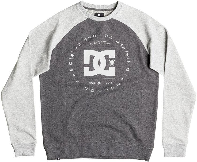 DC Rebuilt Raglan Sweatshirt in Grau Heather/Charcoal Heather