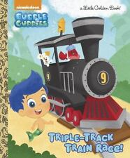 Triple-Track Train Race! (Bubble Guppies) by Mary Tillworth (2015, Picture Book)