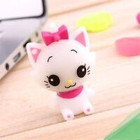 Cute Cartoon Cat Model USB 2.0 Memory Stick Flash Pen Drive 8-32GB Lovely Gift
