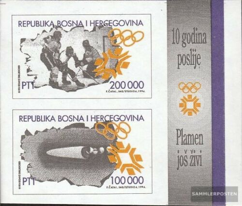 BosniaHerzegovina block1 mint never hinged mnh 1994 Olympics Winter Games ´84