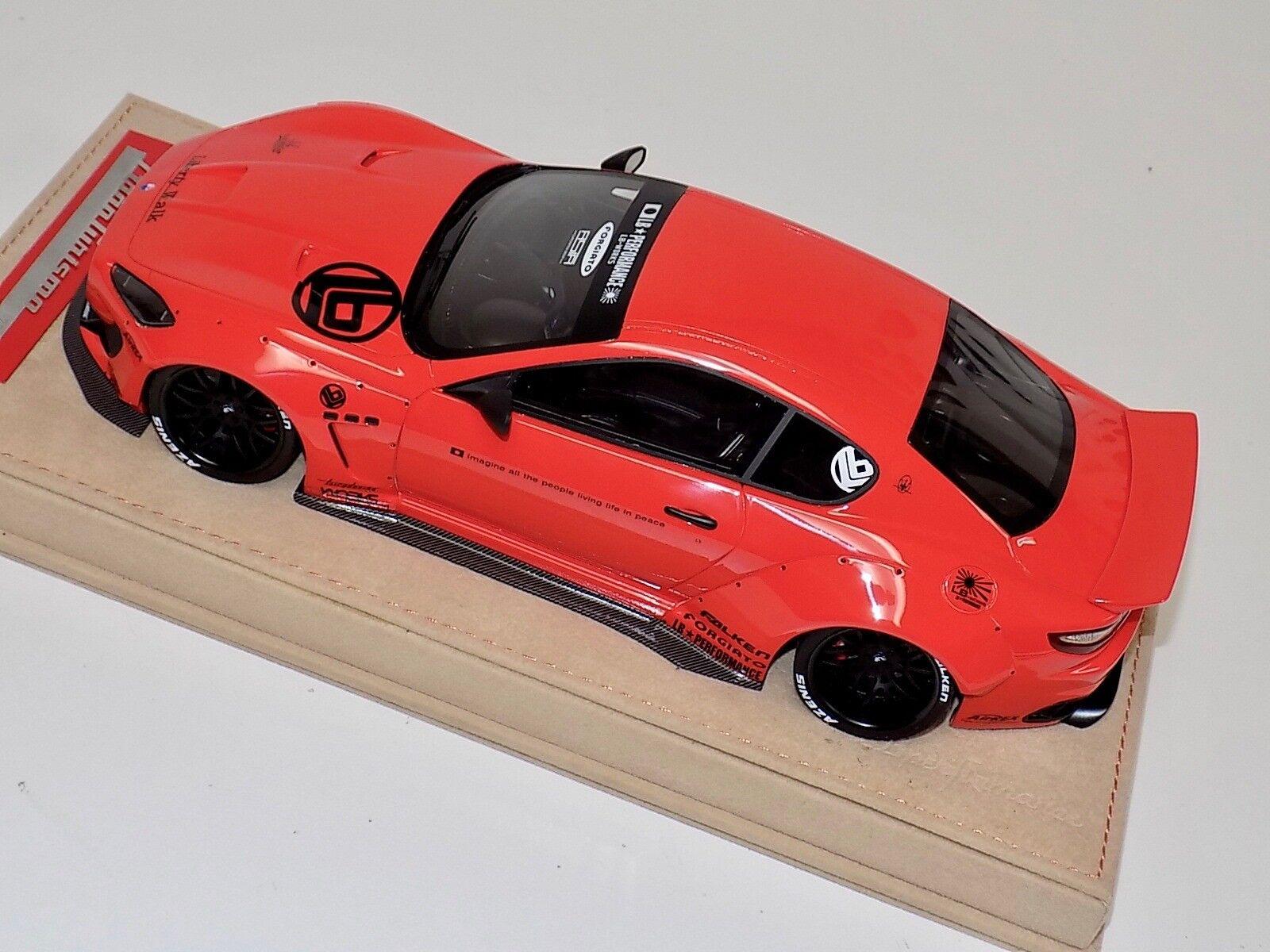 1/18 1/18 1/18 AB Models Maserati Granturismo Liberty walk rosso with Decals Alcantara Base 6629bc