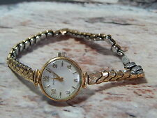 Vintage womens Rotary 15 jewel mechanical watch with Excalibur rolled gold strap