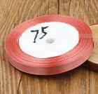 "25 Yards 3/8""10mm Woven Headbands Wedding Party Craft Satin Ribbon Bow"