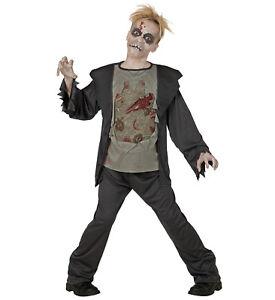 Zombie Kostüm Kinder 2 Tlg Halloween Horror Untoter 128 140 158