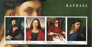 Palau 2012 MNH Raphael 4v M/S Art Saint Sebastian Portrait Julius Altoviti