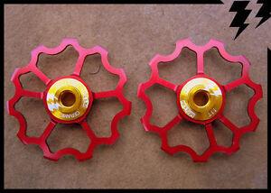 MT-ZOOM-Rojo-Ultralight-Cojinete-Ceramica-Cambio-Marchas-11-DIENTES-Jockey-034