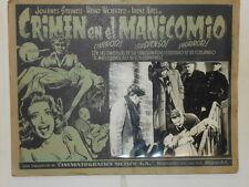 Crime In The Madhouse Crimen en el Manicomio Lobby Card Poster Terror Crime 1941
