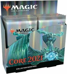 Magic Core Set 2021 M21 Collector Booster Box 12 Packs MTG SEALED