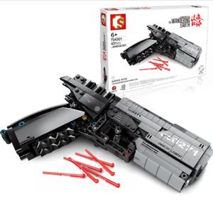 Sembo-Blocksteine-Signal-Gun-Shooting-Sicherheit-Figur-Spielzeug-Modell-Geschenk