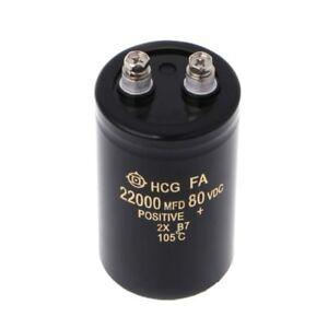 22000uF 80V Electrolytic Screw Capacitor Audio Amp Power Supply 50x80mm 105℃