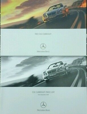 Mercedes CLK Cabriolet A5 Sales Brochure /& Price List May 2000 #