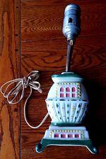 Vintage Pottery Wall Pocket Lamp Pot Belly Stove