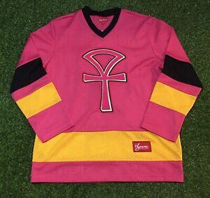 Men's Supreme Ankh Pink Hockey Jersey SS18 Size Medium | EBay
