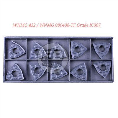 10Pc WNMG080408-TF IC907 WNMG432-TF CNC Carbide Inserts CNC TOOL