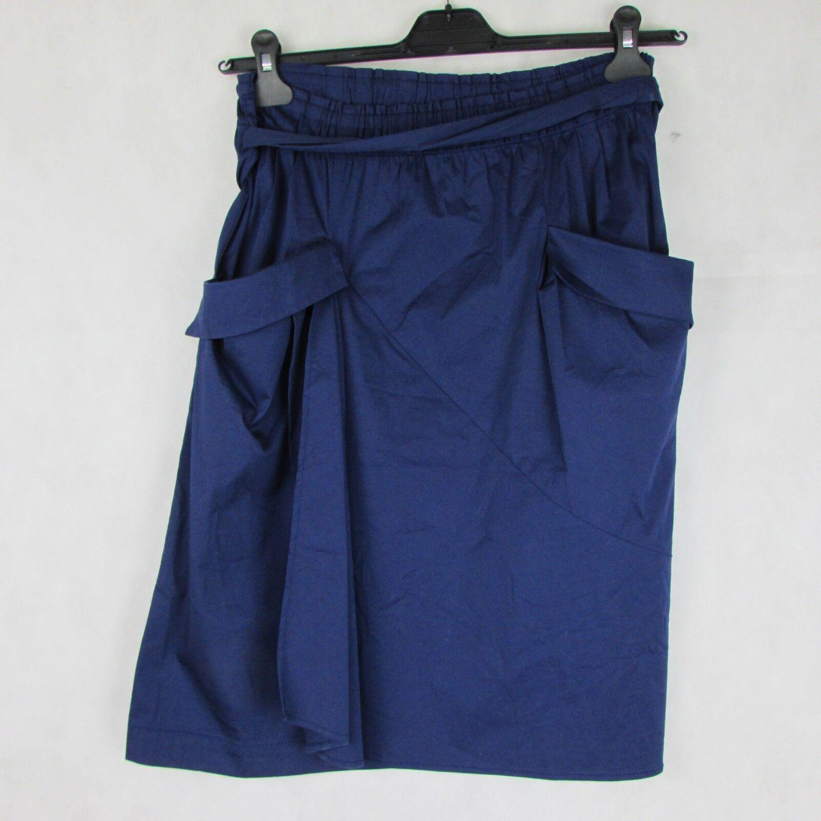 PHILOSOPHI DI ALBERTA FERRETTI 100% COTTON SIZE US 10 L NAVY blueE skirt A LINE