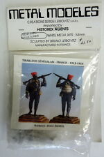 SENEGAL MARKSMAN, TRAILLEUR SENEGALAIS, 54MM, FRANCE 1913-1914 METAL MODELES MIP