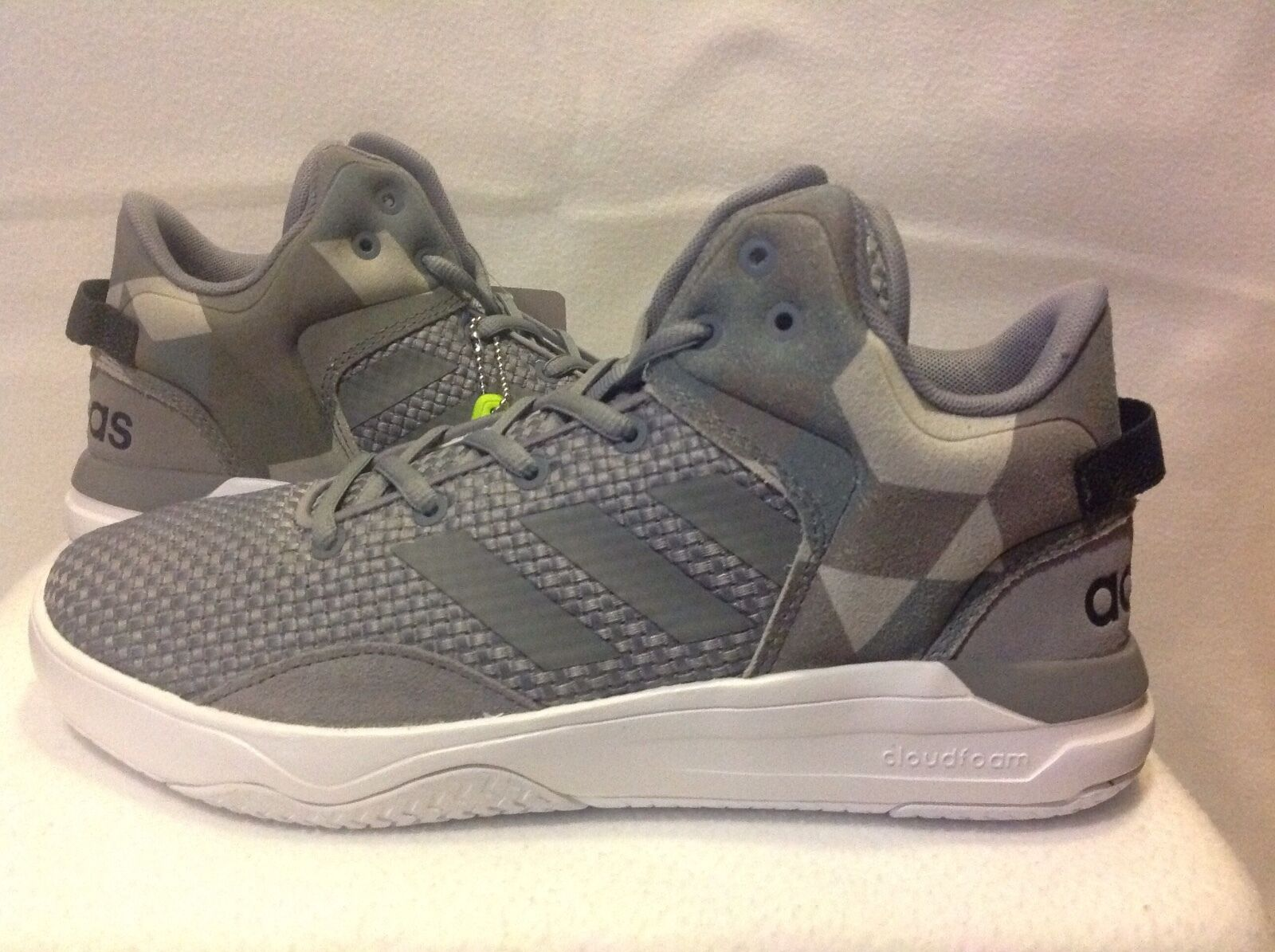 Men's Adidas Cloudfoam Revival Mid - Grey - Width: med - Basketball The most popular shoes for men and women