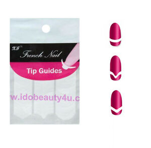 Image Is Loading Nail Tips French Manicure Tip Sticker Template Guides