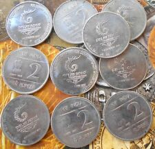 10 Coins LOT - 2 Rupees UNC (Commonwealth Games) 2010 Commemorative: