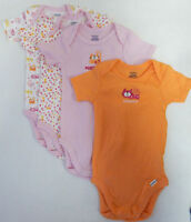 Gerber 12 Months 4-pack Multi Cotton Short Sleeve Bodysuits Baby Girl Clothing