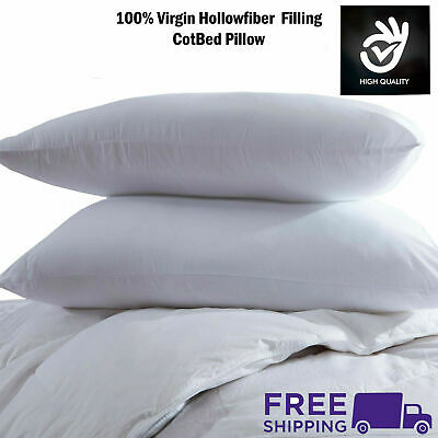 Hollowfiber Pillows Cot Bed Pillow Anti Allergy Nursery Baby Toddler Junior New