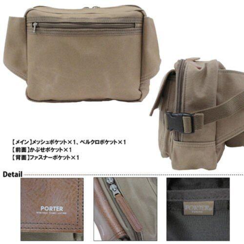 NEW YOSHIDA PORTER FIELD WAIST BAG 706-04662 Beige With tracking From Japan