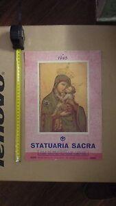 Calendario Religioso.Dettagli Su Anno 1965 R Ro Calendario Religioso Statuaria Sacra Intatto Completo