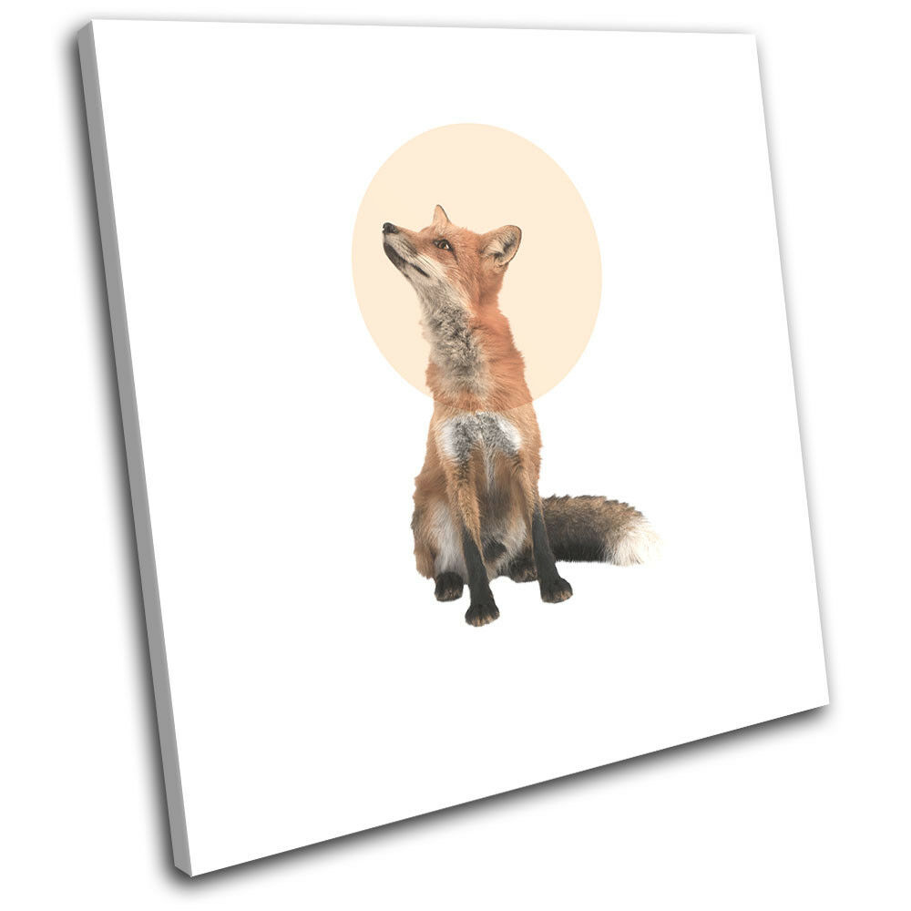 Fox Forest Modern Abstract Animals SINGLE TOILE murale ART Photo Print