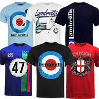 Lambretta Tee T-shirt Mens Clothing Mod Scooter Crest Polo Racing Target