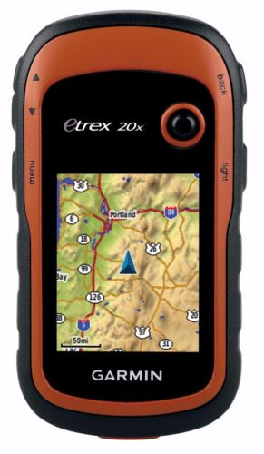 "Garmin eTrex 20x Handheld Hiking GPS 2.2/"" Display Worldwide Basemap 010-01508-00"