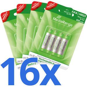 16x-AAA-HR03-Akku-Micro-Batterie-800-mAh-1-2V-wiederaufladbar