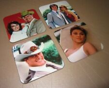 Dallas TV Show with JR Ewing Great COASTER Set