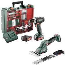 Metabo Akku Bohrschrauber PowerMaxx BS 12 V Set + Gras - Strauchschere SGS 12 Q