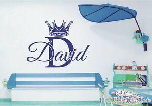 Acheter Pas Cher Couronne Wunschname Mural Prince Princesse Enfants Baby Türaufkleber Autocollant-afficher Le Titre D'origine Apparence Attractive