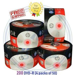 200-HP-DVD-DVD-R-Logo-16x-Branded-Disc-Blank-media-4-7GB-120Min