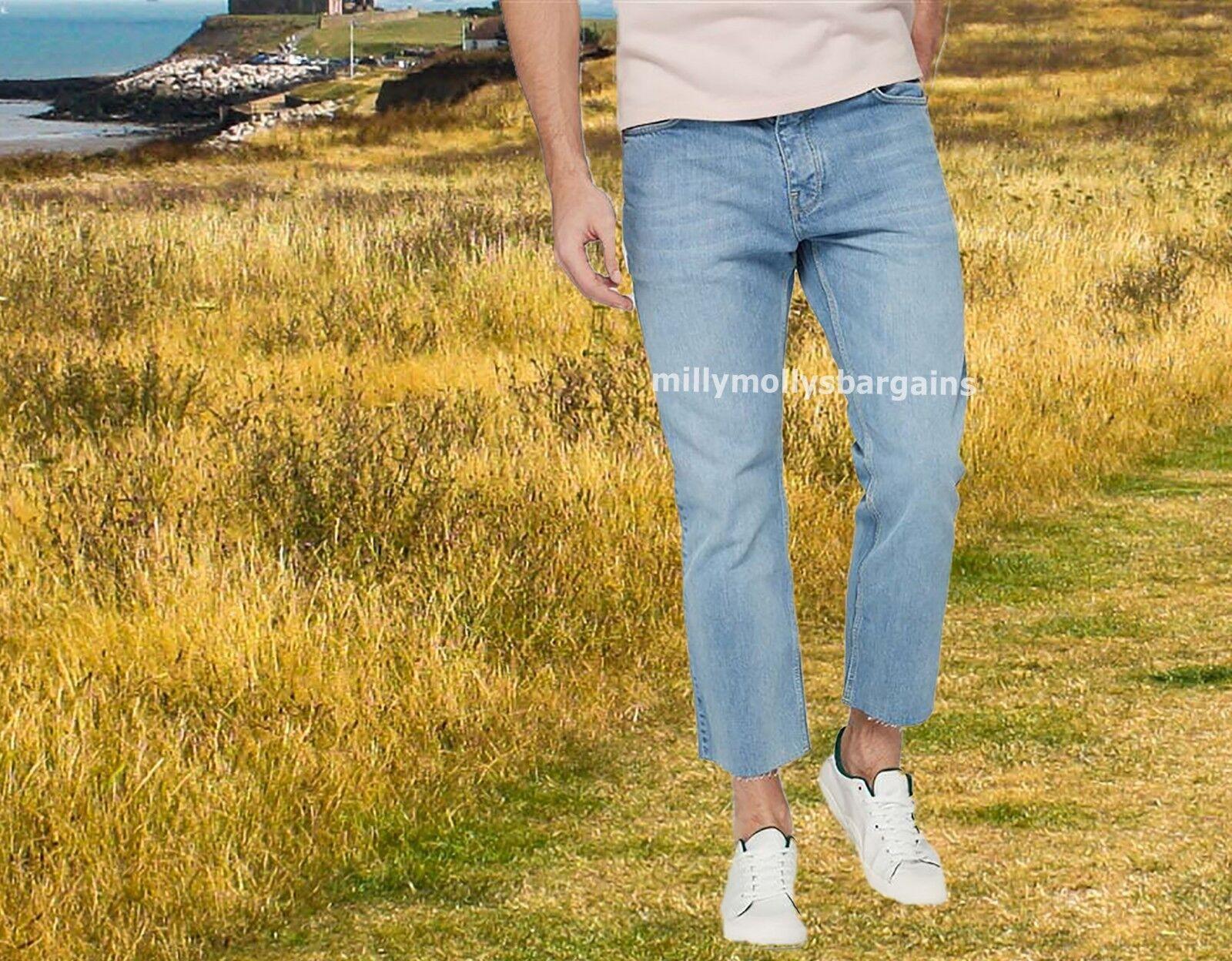 Jeans 32 Slim Crop 34 Next Jeans 36 Taille Bleu Nouveau Homme Homme HwnqTxg