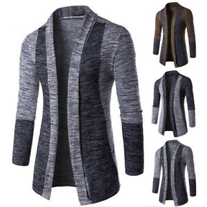 New-Men-039-s-Slim-Fit-Long-Sleeve-Knitted-Cardigan-Jacket-Casual-Sweater-Coat-Tops