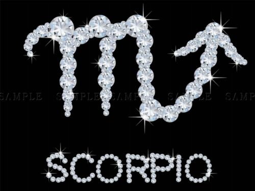 DIAMOND ZODIAC SCORPIO BLING VAJAZZLE HOROSCOPE PHOTO ART PRINT POSTER BMP348A