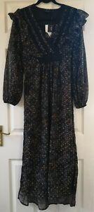 OBJECT-Women-039-s-OBJMILO-Floral-Print-Maxi-Dress-Size-EU-38-UK-10-New-With-Tags