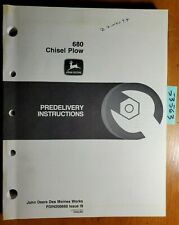 John Deere 680 Chisel Plow Predelivery Instructions Manual Pdin200660 I9 999
