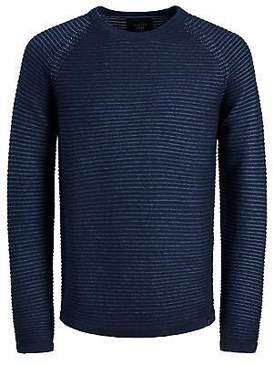 JACK /& JONES New Men's Wind Knit Regular Fit Jumper Crew Neck Sweater 5,45
