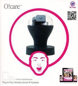 Ozaki-O-Care-Wireless-Drahtlose-IP-Kamera-Schwarz-fur-iPad-iPhone-iPod-Touch-NEU