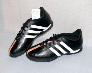 Details zu adidas B40878 11 Nova TF J Leder Schuhe Fußball Soccer EU 36 US 4 Black White Or