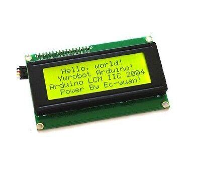 2pcs Yellow IIC/I2C/TWI/SPI Serial Interface2004 20X4 Character LCD Module