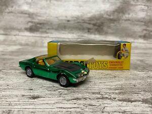 Corgi-Toys-4-034-Corvette-Stingray-Coupe-Diecast-Car-Vintage-Conectores-De-Oro-Verde-300