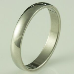 4mm-Stainless-Steel-Mens-amp-Womens-Wedding-Band-New-Silver-Ring-Sizes-J-to-Z-2