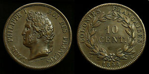 French-Colonies-Marquesas-Islands-10-Centimes-1844-A-Louis-Philippe-I